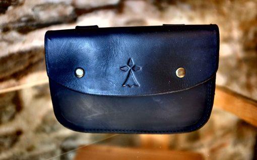 Pochette ceinture noire, motif hermine