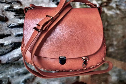 "Sac Seventies coloris ""whisky"""